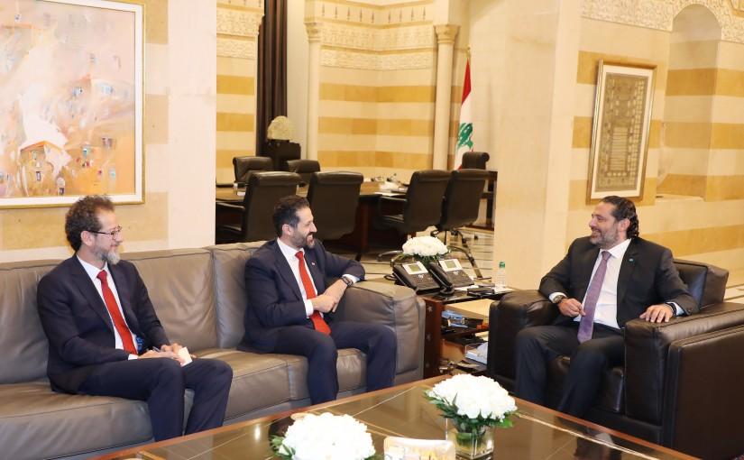 Pr Minister Saad Hariri meets a Delegation from Kurdistan