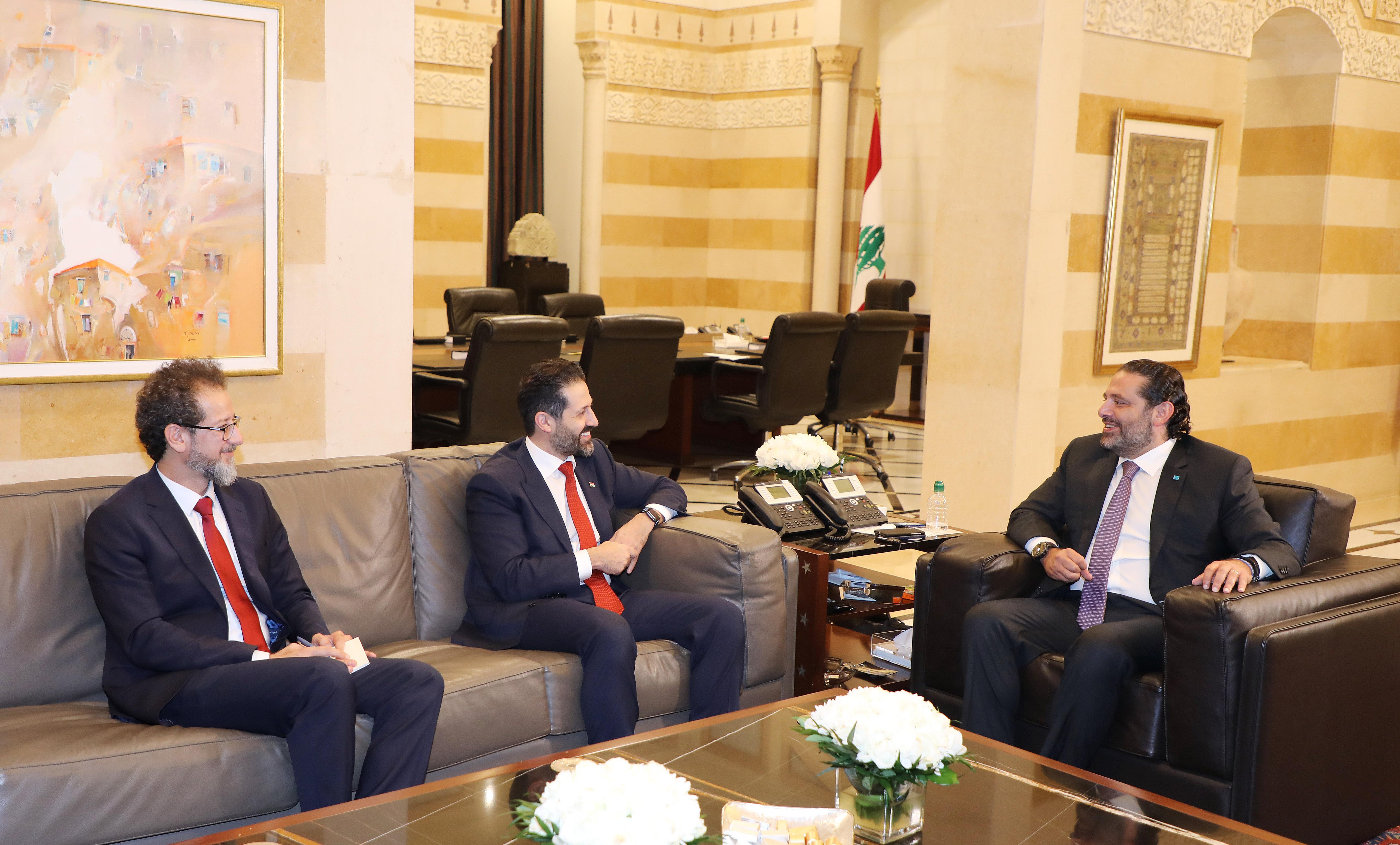 Pr Minister Saad Hariri meets a Delegation from Kurdistan 1