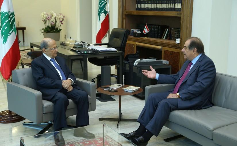 President Michel Aoun Meets Former Minister Sejaan Azzi