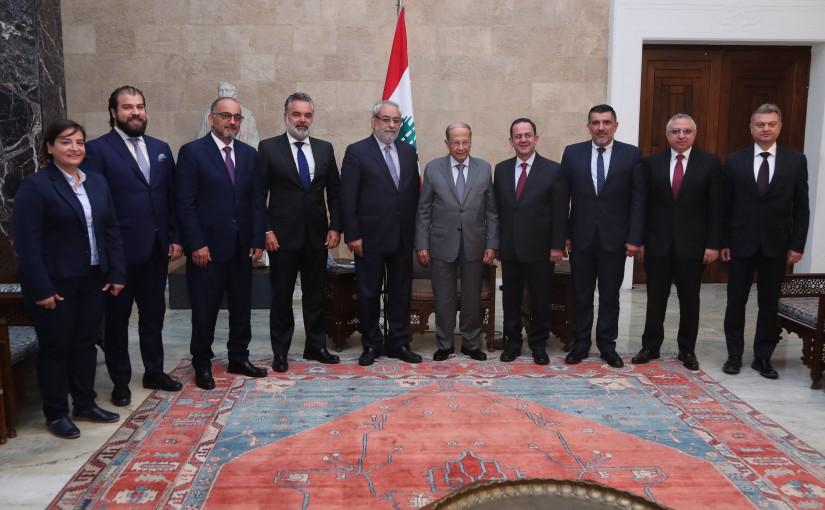 President Michel Aoun Meets a Delegation of Tachnag Party