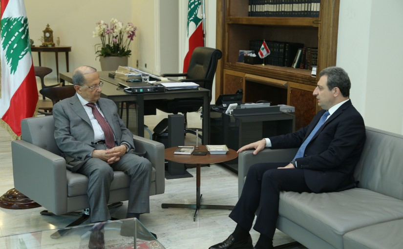 President Michel Aoun Meets Minister Wael Abou Faour