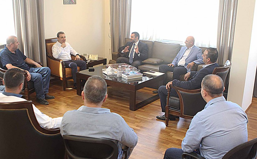 Minister Wael Abou Faour meets MP Ibrahim Azar with a Delegation
