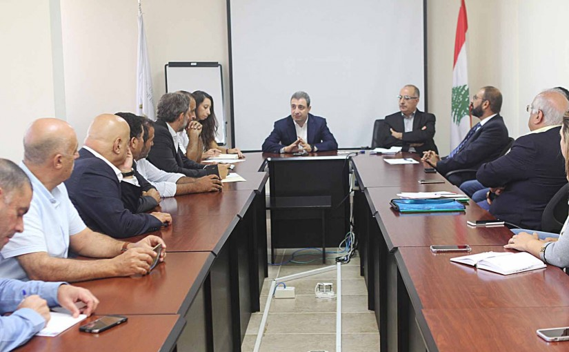 Minister Wael Abou Faour meets a Delegation from Labneh Factory