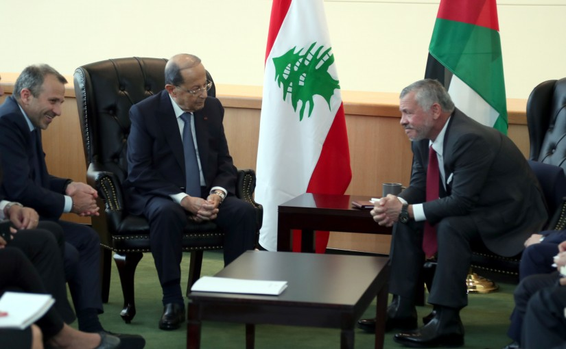 President Michel Aoun Meets king Abdullah II of Jordan