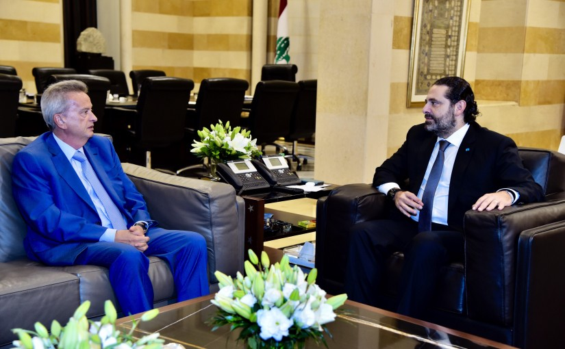 Pr Minister Saad Hariri meets Mr Riyad Salameh