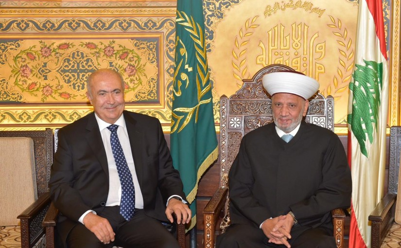 Grand Mufti Abdel Latif Derian Meets MP Fouad Makhzoumi