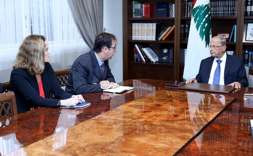 President Michel Aoun meets French Ambassador Bruno Foucher.