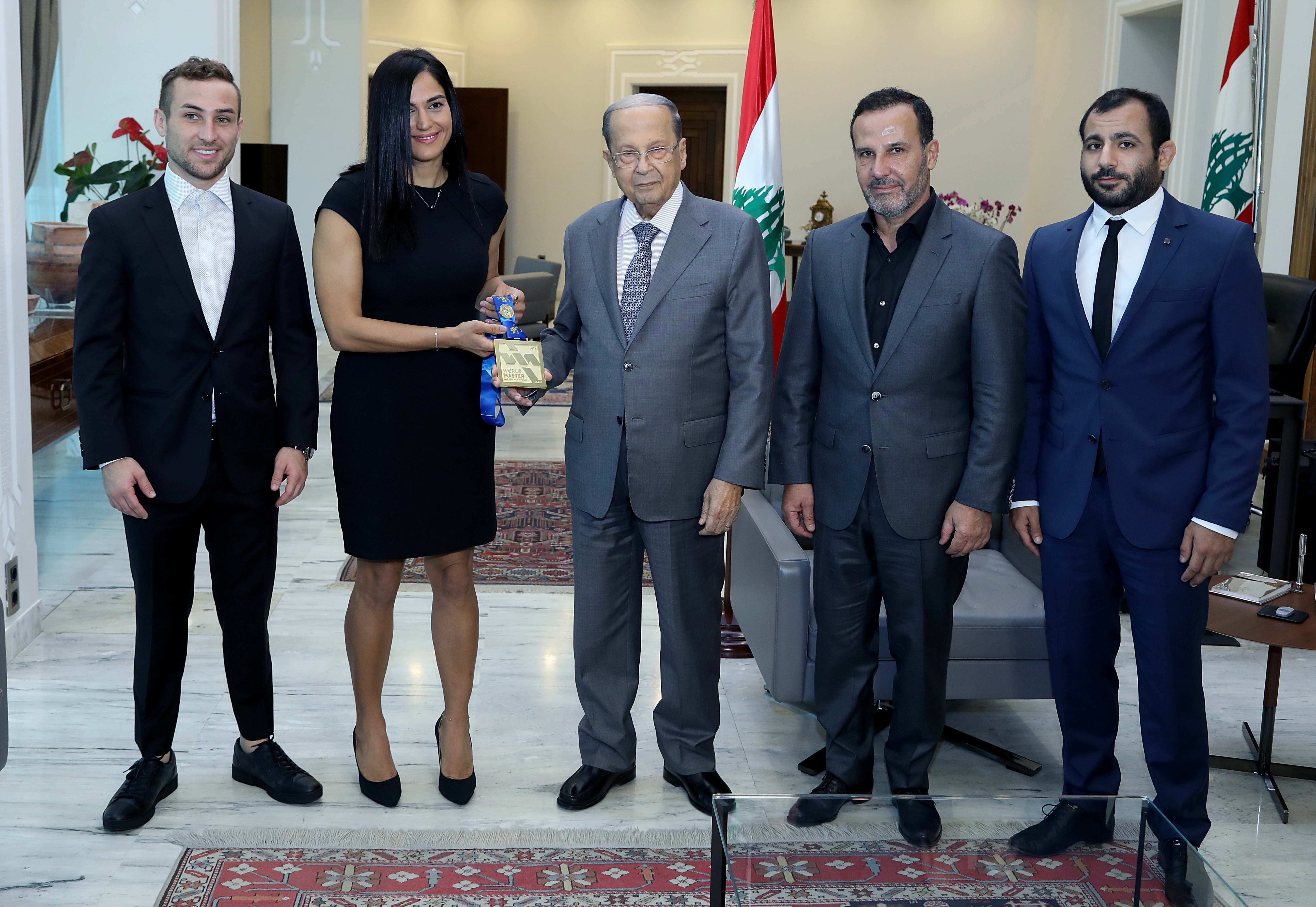 1 -Ms Mireille Atallah With a delegation
