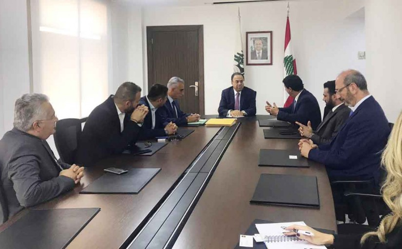 Minister Mansour Bteich meets a Delegation Transportation  committee