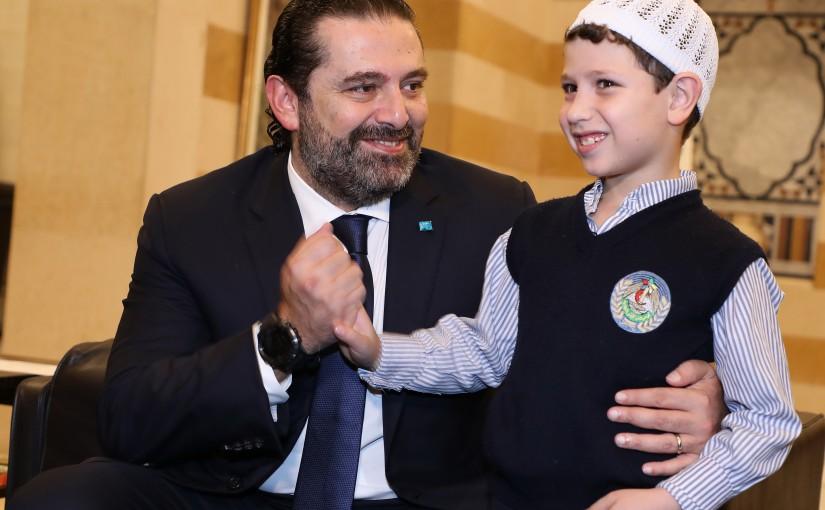 Pr Minister Saad Hariri meets Adham el Ghadban