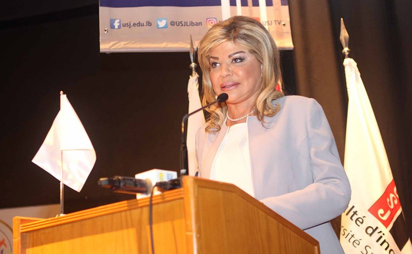 Lecture for Minister May Chidiac at USJ