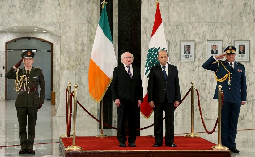 President Michel Aoun meets President of Ireland Mr. Michael D. Higgins.