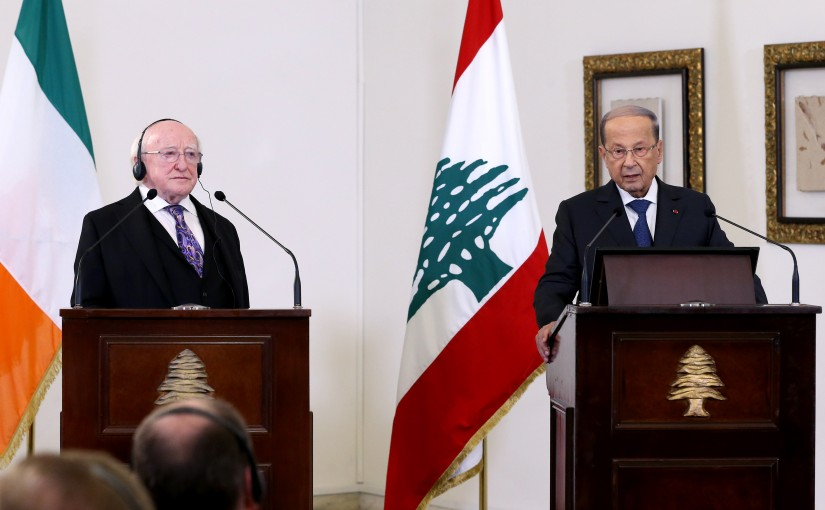 President Michel Aoun meets President of Ireland Mr. Michael D. Higgins.