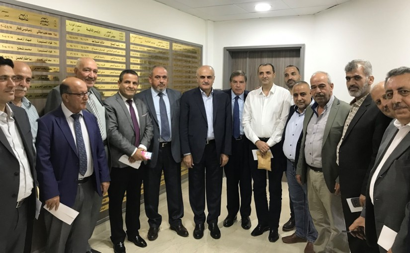 Minister Ali Hassan Khalil Meets Mr Nasif Seklaoui with a Delegation