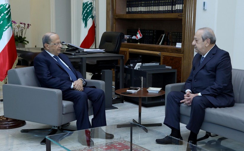 President Michel Aoun meets Former MP Mr. Salim Habib.
