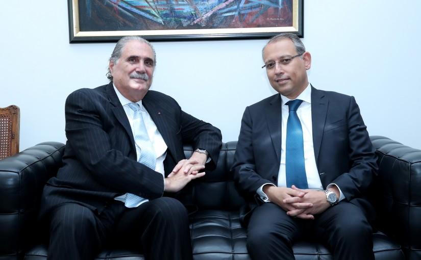 Minister Salim Jereysati meets Egyptian Ambassador to Lebanon, Nazih al-Najjari