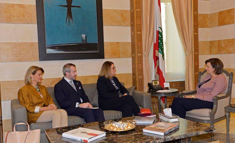 Minister Raya El Hassan Meets a British Delegation
