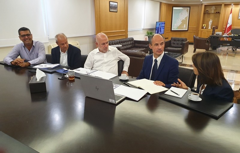 Minister Youssef Fenianos Meets a Delegation From ALSTOM Company