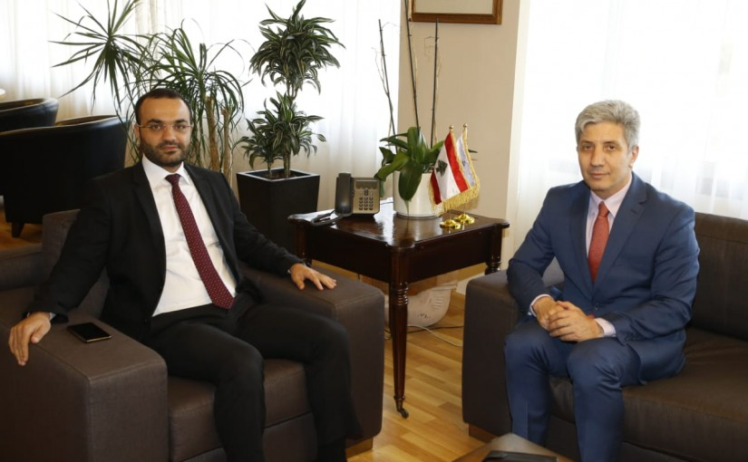 Minister Mouhamad Daoud Daoud meets Ambassador Ali Daher