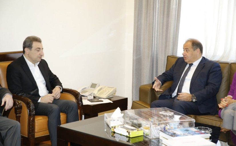 Minister Wael abou Faour meets a Delegation from Beirut Traders