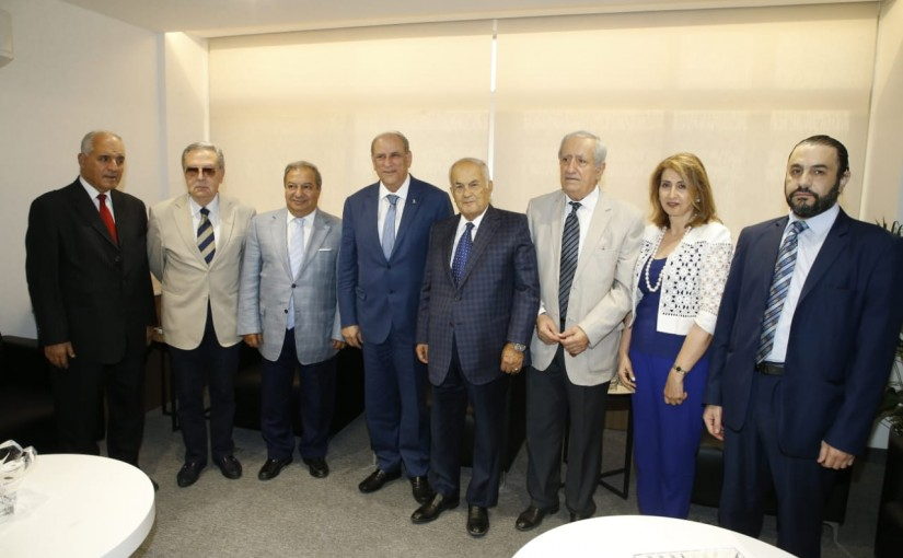 Minister Jamal Jarrah meets a Delegation from Lebanese Press Syndicate