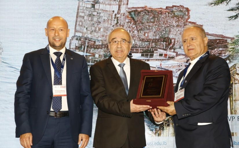 Minister Albert Serhan Attends a Conference at USJ