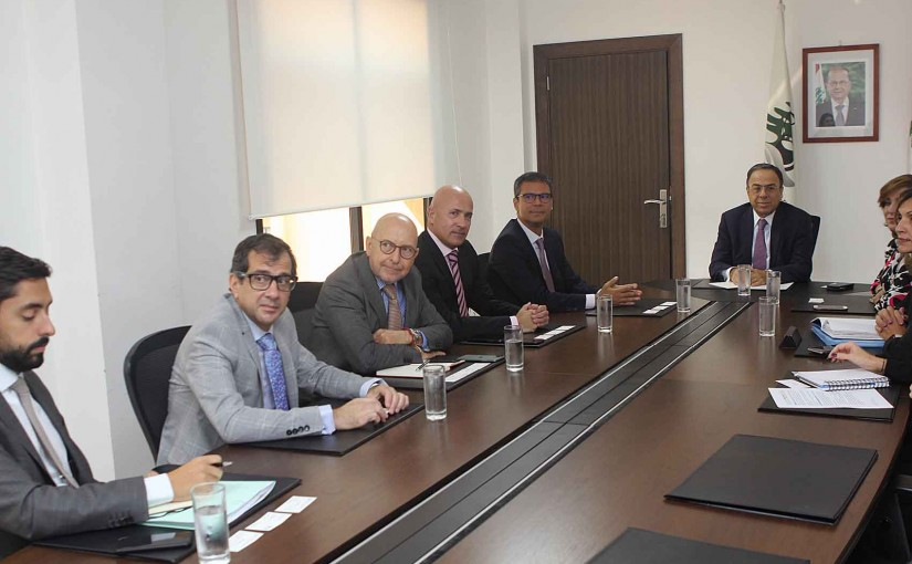 Minister Mansour Bteich meets a Delegation of Ambassadors
