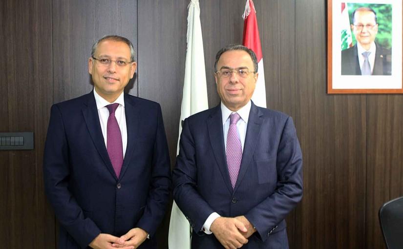 Minister Mansour Bteich meets Egyptian Ambassador