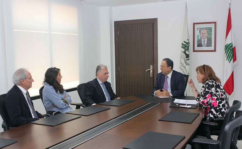 Minister Mansour Bteich meets a Delegation from Lebanese Library Syndicate