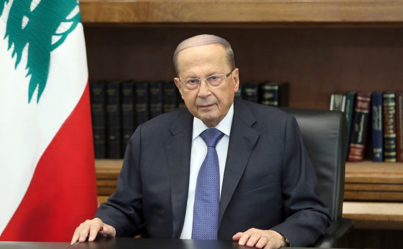 President Michel Aoun speech to the Lebanese.