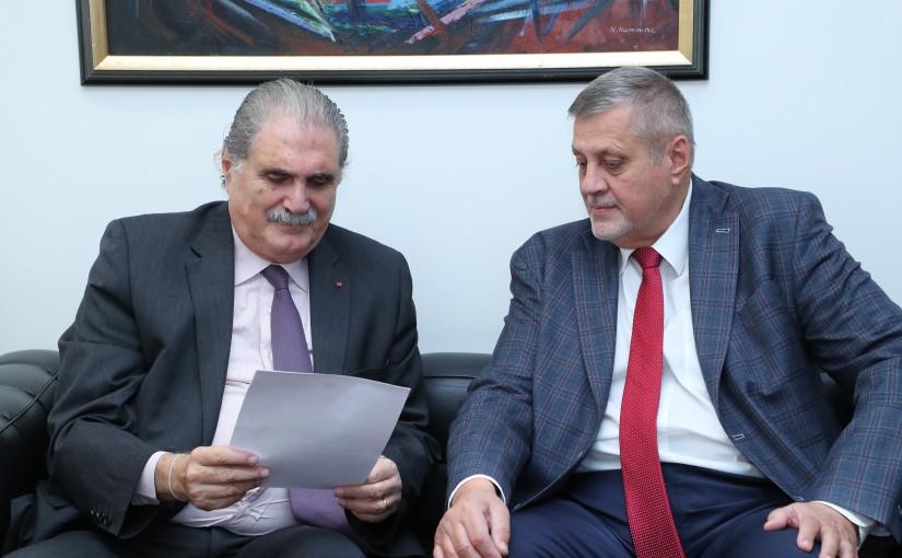 Minister Salim Jereysati meets The United Nations Special Coordinator for Lebanon, Mr. Jan Kubis .
