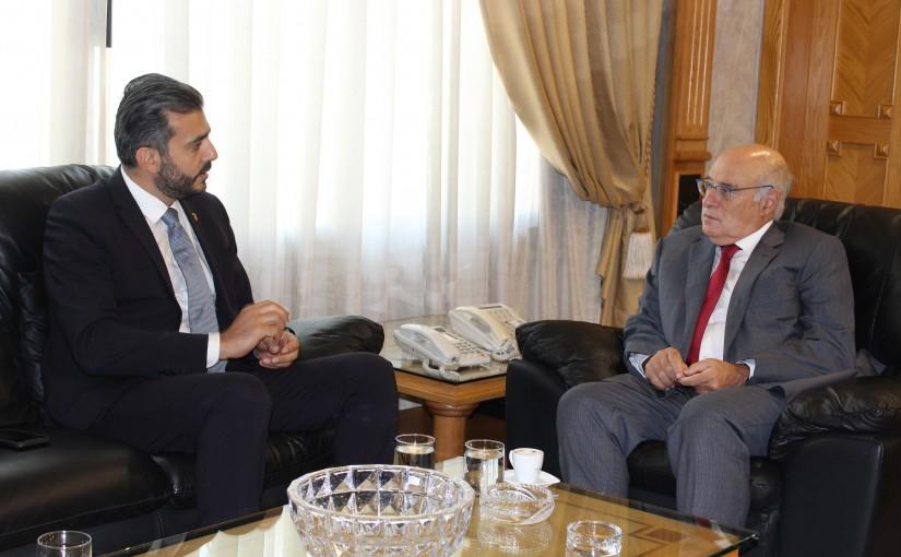 Minister Kamil abou Sleiman meets  Dr Toni Aboud