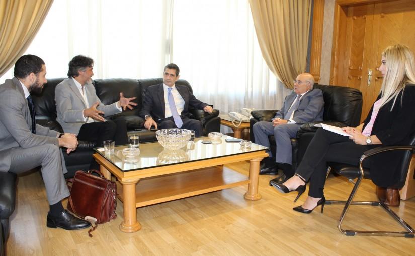Minister Kamil abou Sleiman meets Minister Richard Kouyoumdjian