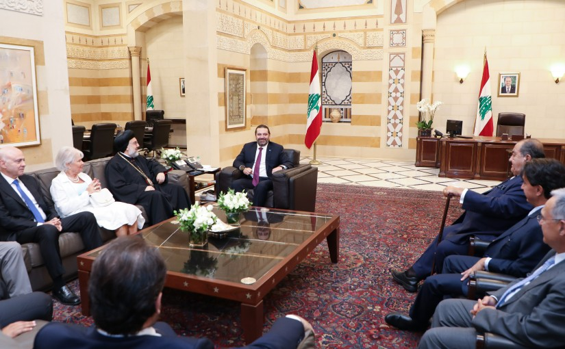 Pr Minister Saad Hariri meets a Delegation from Assyrian Catholic