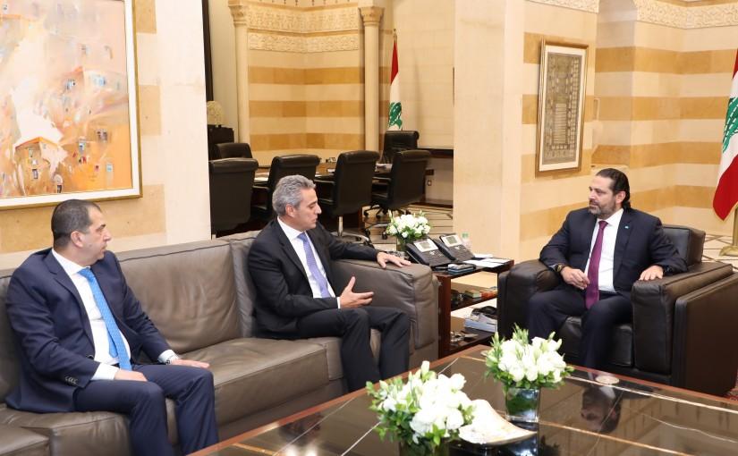 Pr Minister Saad Hariri meets Mr Mouhanad Hadi