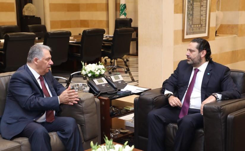 Pr Minister Saad Hariri meets Palestinian Ambassador