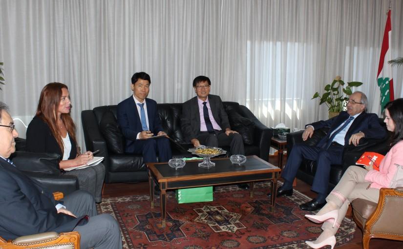 Minister Albert Serhan meets Korean Ambassador