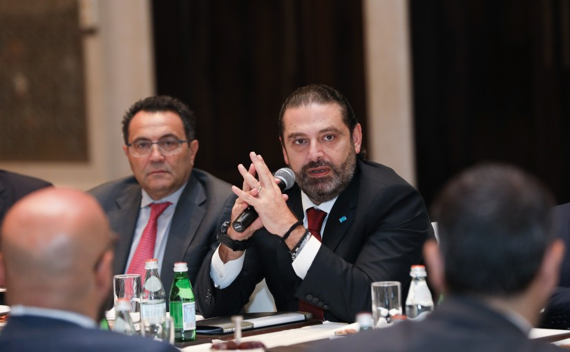 Pr Minister Saad Hariri meets a Delegation from Lebanese British Businessmen
