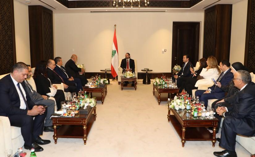 Pr Minister Saad Hariri meets a Delegation from Tayyar Almustaqbal