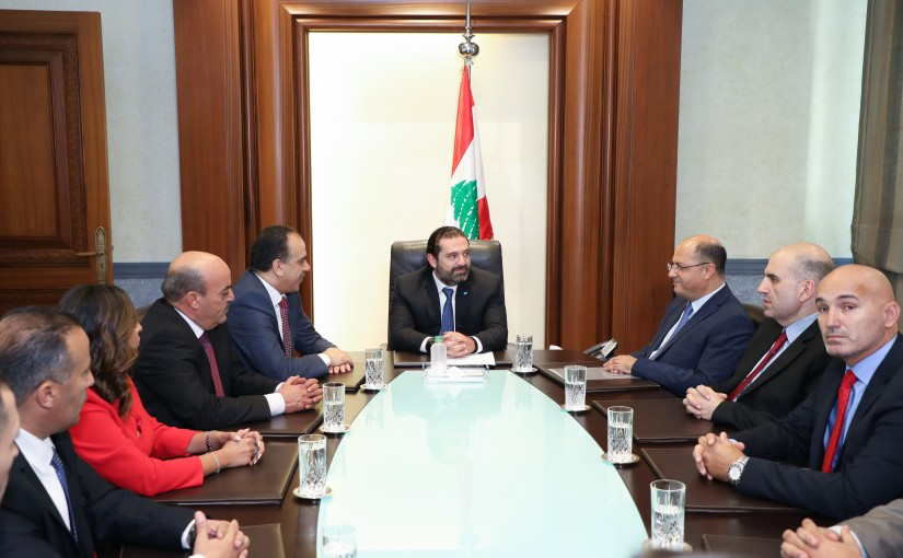 Pr Minister Saad Hariri meets Jordanian Minister of Agriculture with a Delegation