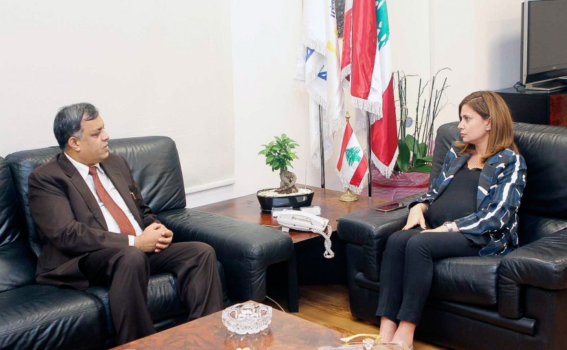 Minister Nada Boustani meets Indian Ambassador