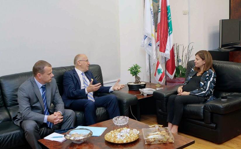 Minister Nada Boustani meets Ukrainian Ambassador