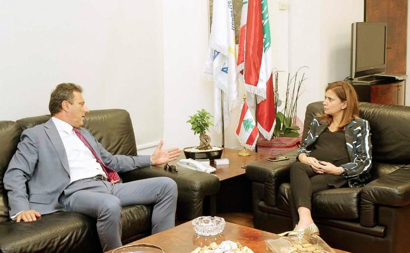 Minister Nada Boustani meets Cypriot Ambassador