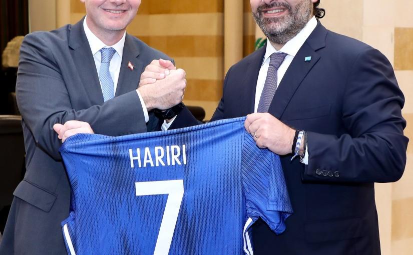 Pr Minister Saad Hariri meets a Delegation of FiFA