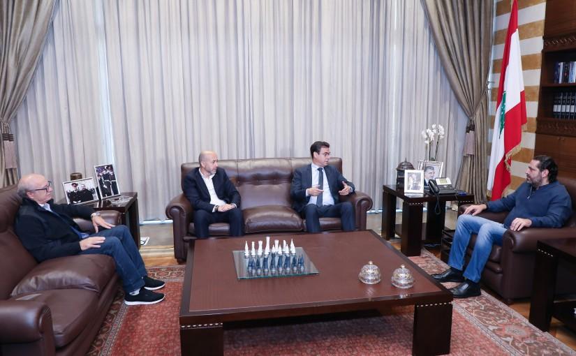 Pr Minister Saad Hariri meets Minister Former Minister Nicolas Shehnaoui