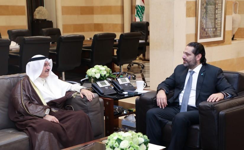 Pr Minister Saad Hariri meets Kuwaiti Ambassador