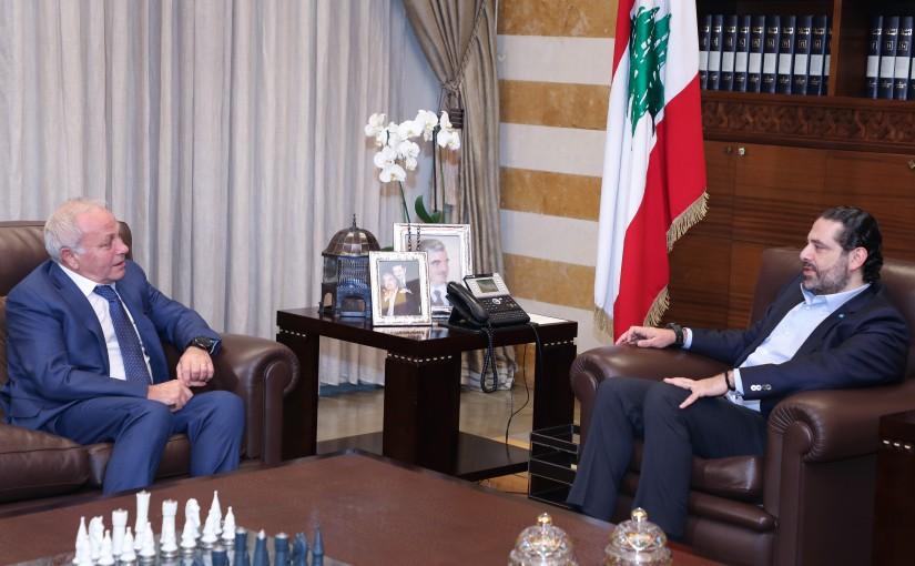 Pr Minister Saad Hariri meets Judge Ghassan Ouwiedat