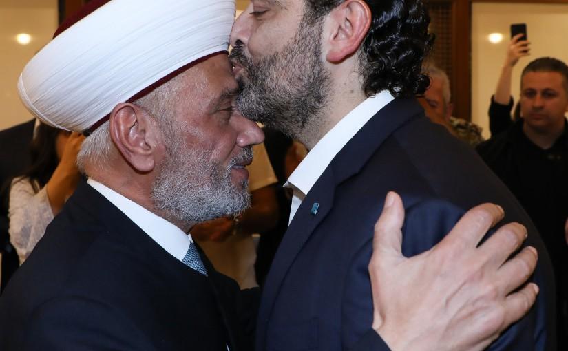 Pr Minister Saad Hariri meets Mufti Abdel Latif Derian