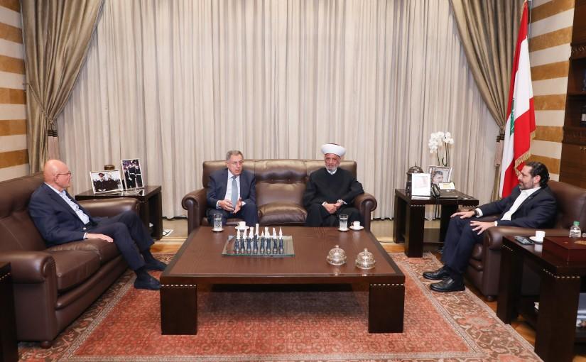 Pr Minister Saad Hariri meets Mufti Abdel Latif Derian & Former Pr Minister Fouad Siniora & Former Pr Minister Tammam Salam