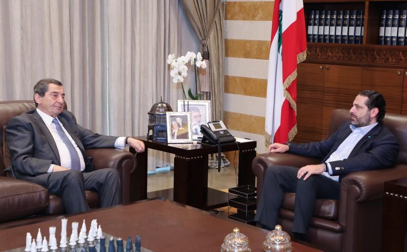 Pr Minister Saad Hariri meets MP Elie Ferezli